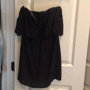 Black deep V Lovers + Friends mini dress